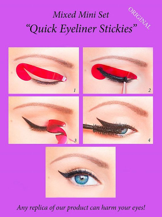 32 pcs Quick Eyeliner Stickies Stencils by QuickMakeupStencils
