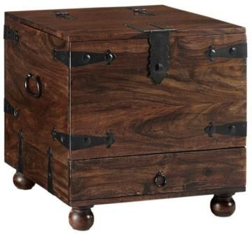 side table option for large chair by itself reclaimed, has interior storage