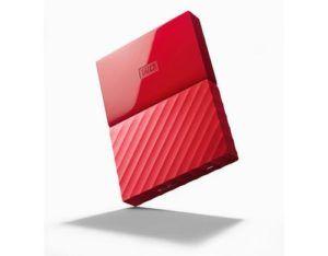 WD Externe Harddisk My Passport 4 TB, Verbindungsmöglichkeiten: USB, Stromversorgung: USB, Speicherkapazität total: 4 TB, Speicherverschlüsselung: 256-Bit-AES, Farbe: Rot, Dateisystem: NTFS (Windows), Schnittstellen: USB, Festplatten Formfaktor: 2,5″