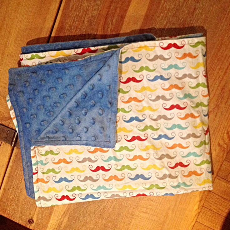 Extra large blanket with minky backing by SewFab3 on Etsy