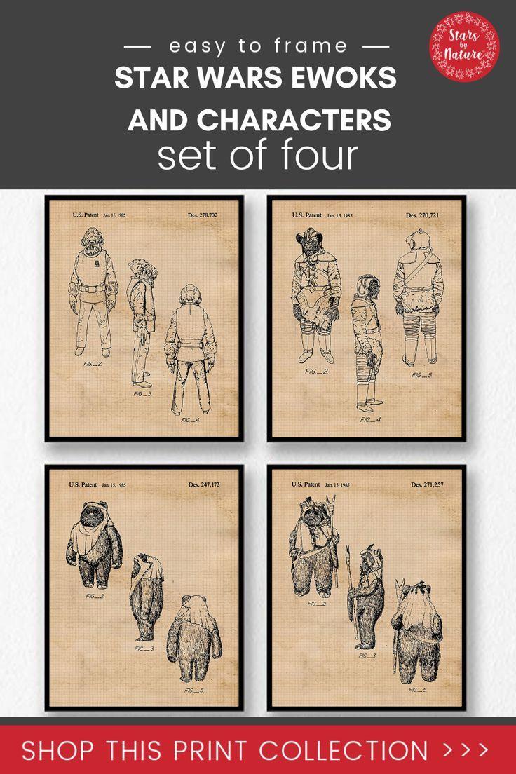 Star Wars Admiral Ackbar Patent Print Decor Vintage Poster Wall Art Gift