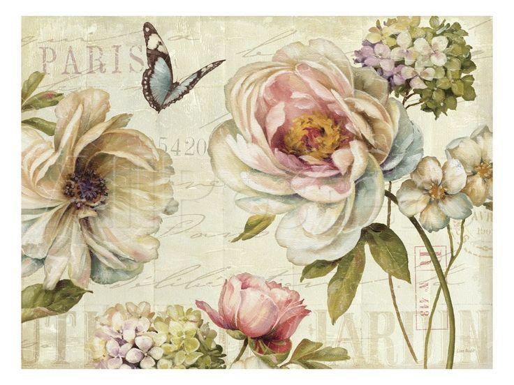 Marche de Fleurs IV Premium Giclee Print by Lisa Audit at AllPosters.com