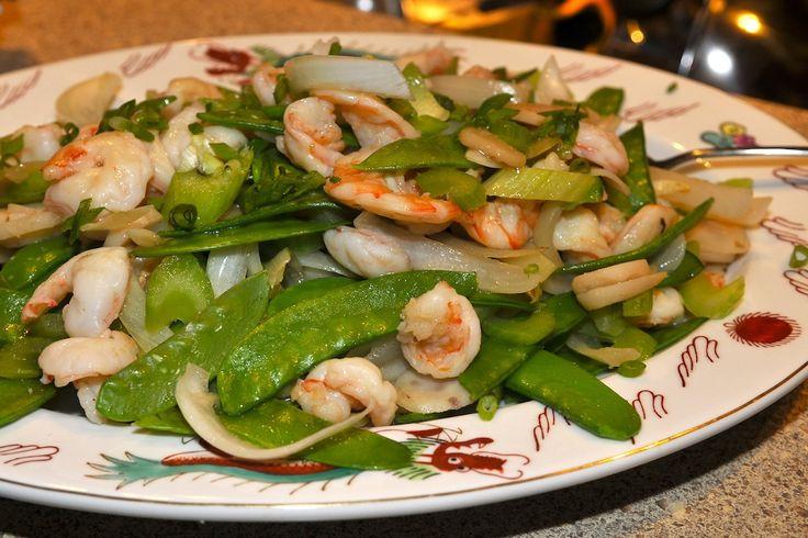 Stir Fried Shrimp and Pea Pods
