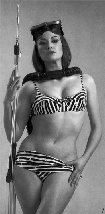 Claudine Auger from the James Bond flick Thunderball 1965