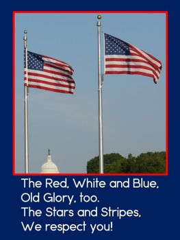 The names of our flag poem FREE poster!