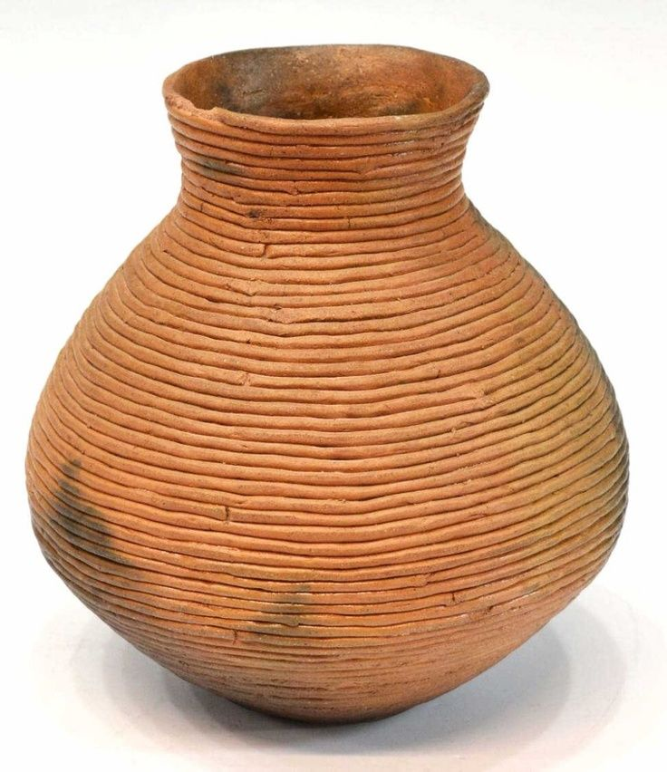 Ancient Coil Pottery American pottery coil pot,