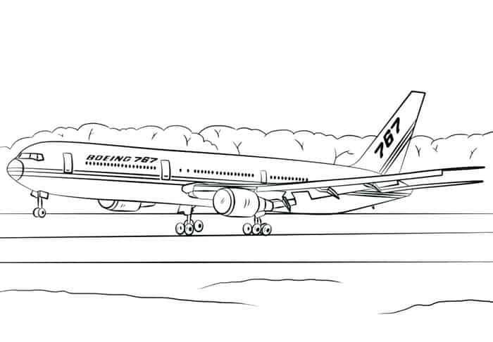 Airplane Coloring Pages In 2020
