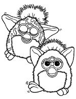 72 best images about furby coloring pages on