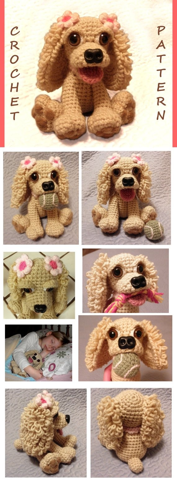 Cocker Spaniel crochet pattern - *Inspiration* though I might buy this one...she's so cute