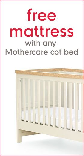 Mothercare Voucher Offered a Great Deal Thats You Buy a Mothercare Cot Bed & Get a Mattress Free.