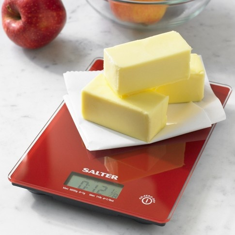 A digitial food scale has so many uses! For perfect baking results, measure your dry ingredients by weight. And the scale can also help you measure serving sizes...just to help you become familiar with what one serving looks like.
