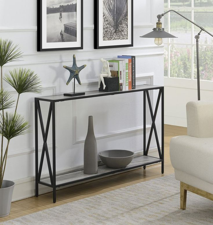 Abbottsmoor Metal Frame Console Table in 2020 | Narrow ...