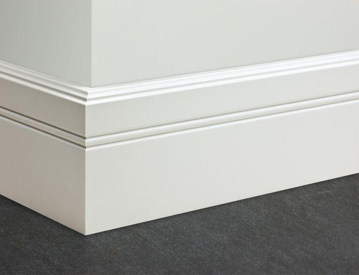Wagner Sockelleisten Weißlack - MDF Leisten Profil: 1178 Deckfläche: 100/16mm Länge: 250 cm-100161178