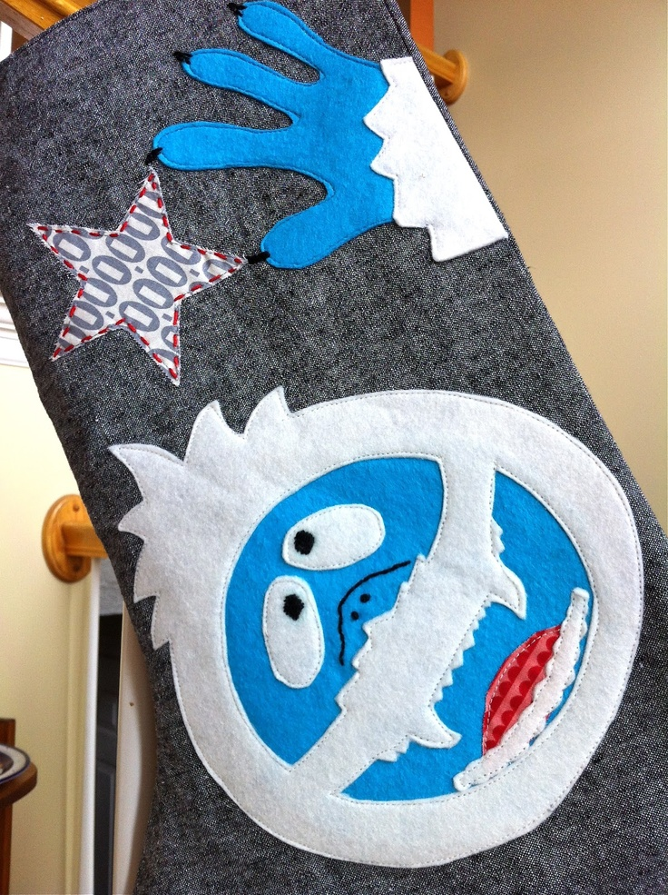 a little gray: Abominable Snowman Stocking Tutorial