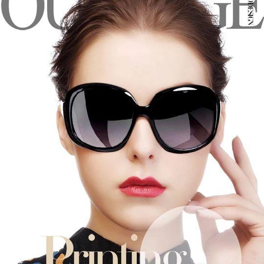 Classic retro brand oval shape, uv400 women sunglasses