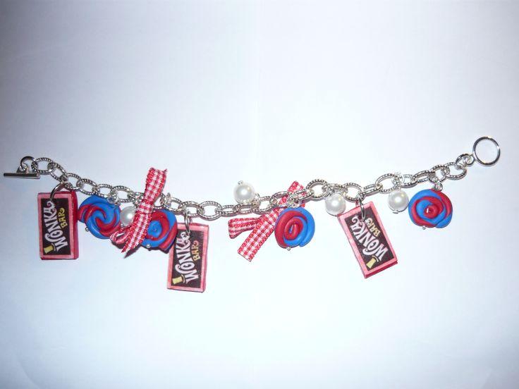 #Bracelet with #polymerclay #pendants