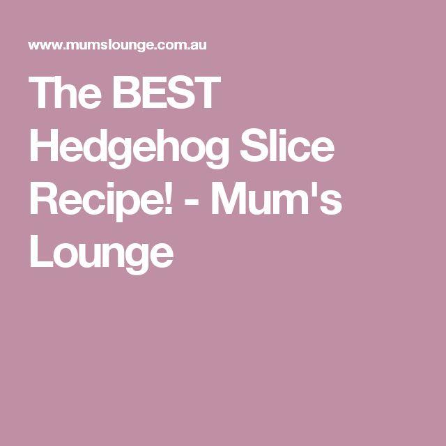 The BEST Hedgehog Slice Recipe! - Mum's Lounge