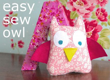 Tutorial: Easy sew owl softie that kids can make