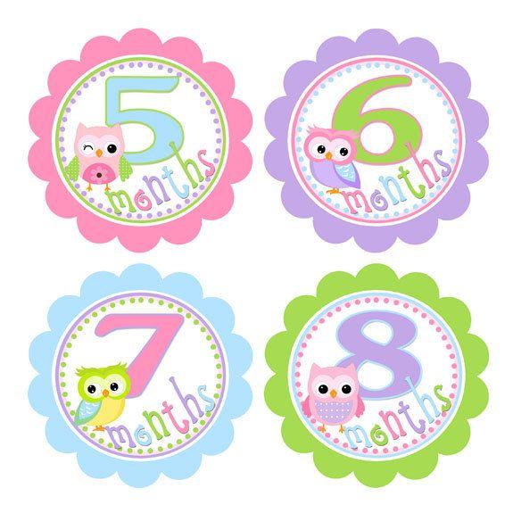 Las 25 mejores ideas sobre pegatinas de meses de beb s en for Pegatinas para habitacion bebe