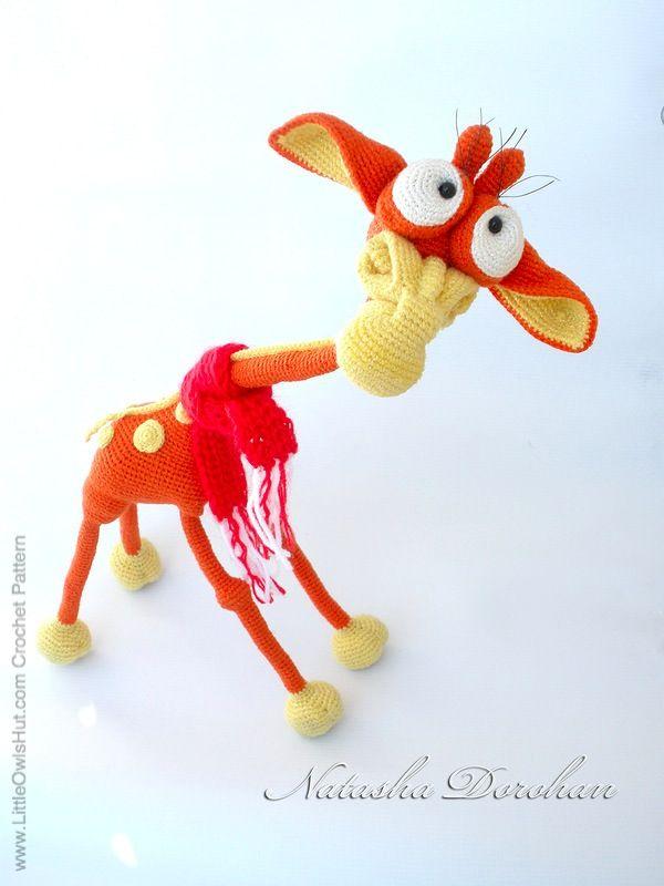 "Project by Natalya Dorohan. Giraffe ""George"" Amigurumi crochet pattern by Galina Astashova for LittleOwlsHut www.LittleOwlsHut.com"
