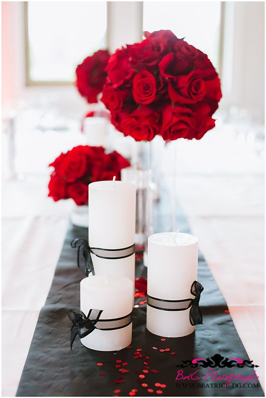 retro wedding black, white, red 30's style BdG Photography - www.beatrice-dg.com…