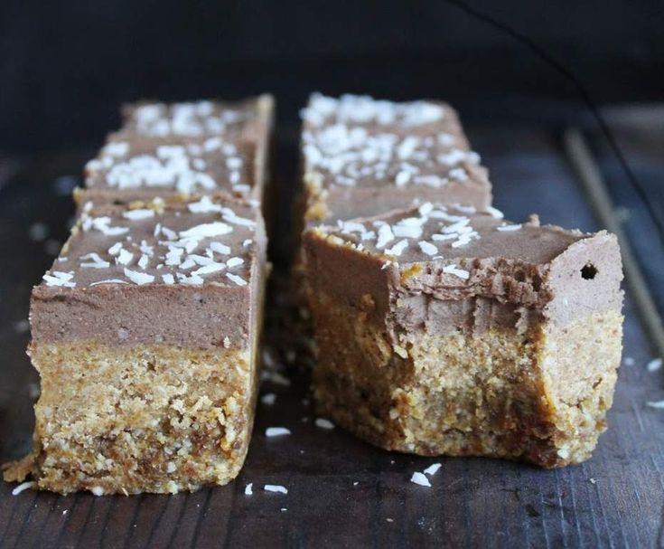 Recipe RAW Chocolate Cream Caramel Slice by KyLoz - Recipe of category Desserts & sweets