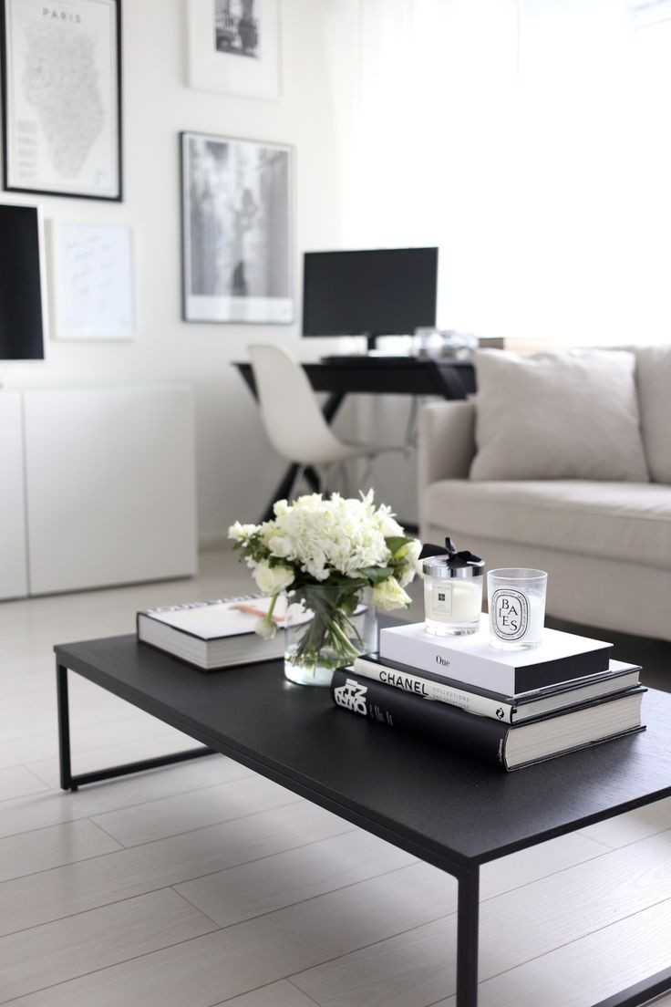Black and white dining table - 20 Best Ways To Beautifully Style Your Coffee Table Black Dining