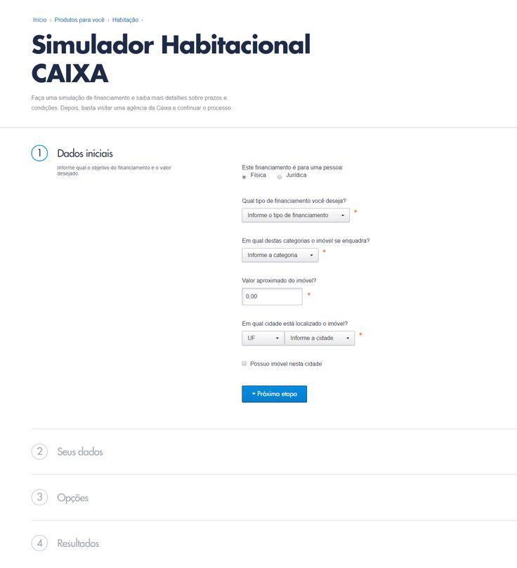 Novo Simulador Habitacional CAIXA