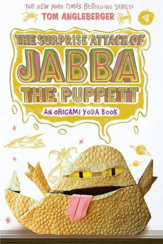The Surprise Attack of Jabba the Puppett: An Origami Yoda Book by Tom Angleberger http://www.amazon.com/dp/1419720309/ref=cm_sw_r_pi_dp_kIRAwb05QZR2P