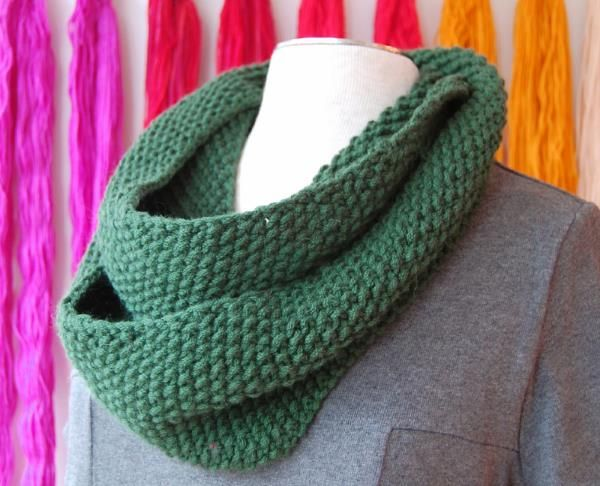 Infinity Scarf Knitting Pattern Seed Stitch : 17 Best images about Knitting projects on Pinterest Free ...