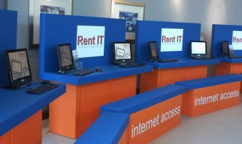 Another Rent IT Internet Cafe at Offshore Europe, Aberdeen Exhibition & Conference Centre Aberdeen (PS - We did not pick the colour scheme!) #OffshoreEurope #OilandGas #AECC #Aberdeen