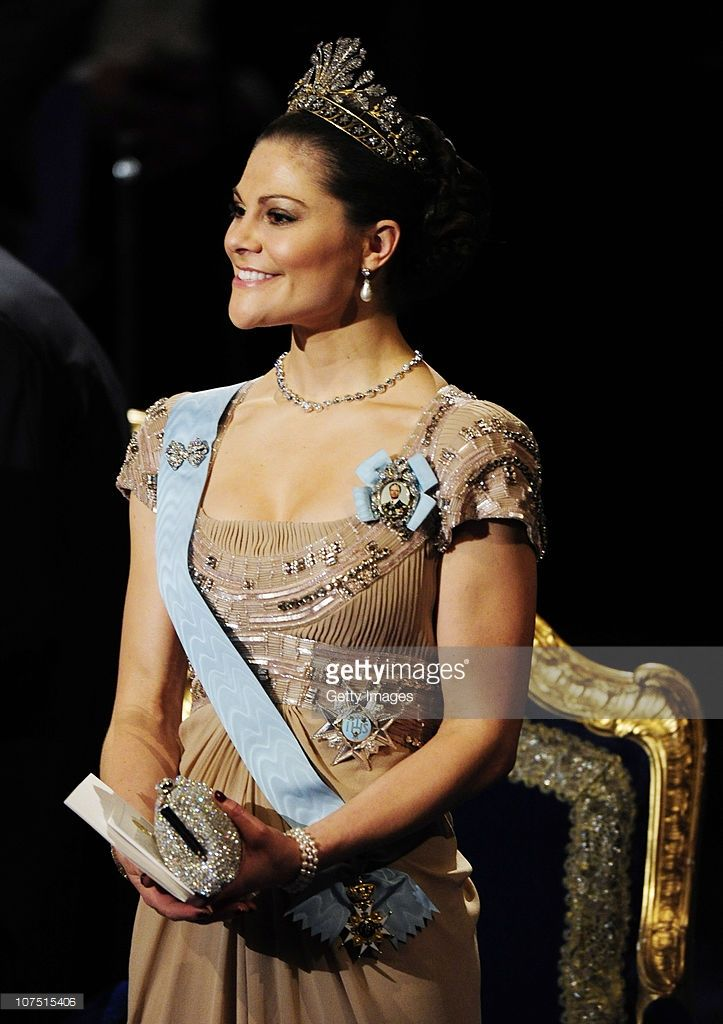 Crown Princess Victoria of Sweden attends the annual Nobel Prize Award Ceremony at The Concert Hall on December 10, 2010 in Stockholm, Sweden. Dignitaries in Norway have honored the winner of this year's Nobel Peace Prize , imprisoned Chinese dissident Liu Xiaobo, with an empty chair. The award's winner is being held in a chinese prison with China enforcing a blackout ot western news coverage of the event.  (Photo by Patrik Osterberg/Getty Images)