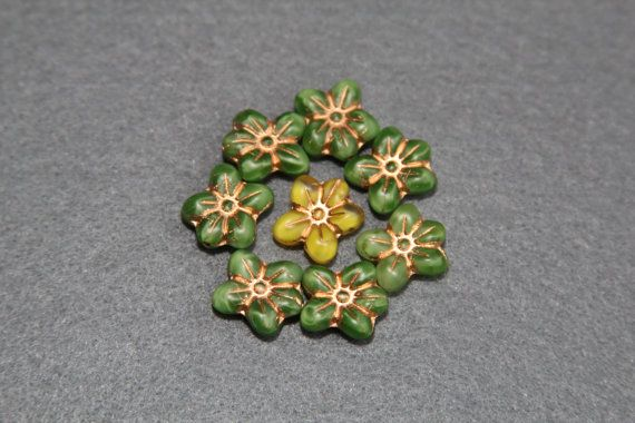 Flowers Lovely 13x14mm Pressed Floral Beads 5 by BohemianSupplyCo