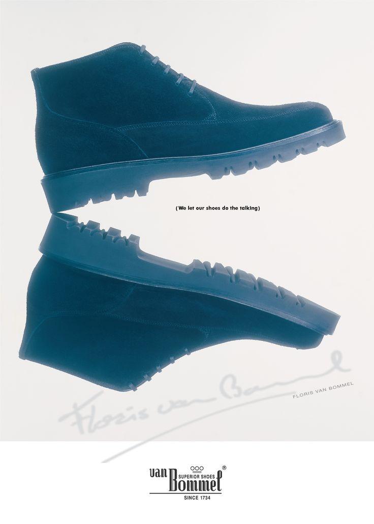 'We let our shoes do the talking' by Huub van Osch. #huubvanosch #vOSCH #TheBrandGuide #florisvanbommel #vanbommel
