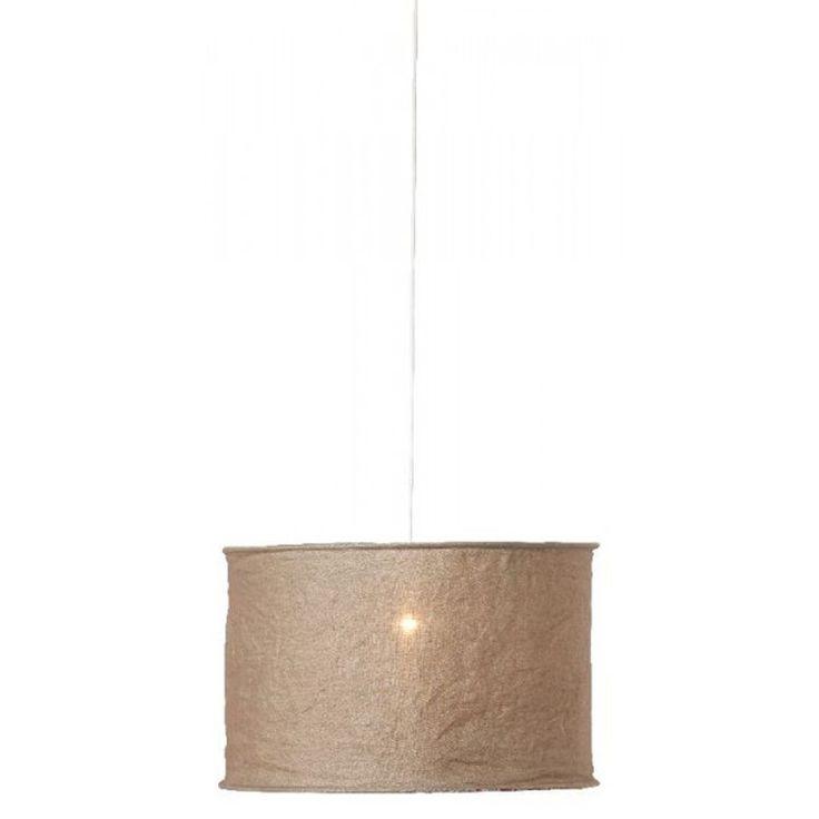 Lotta skjerm 60 Taupe + lampeledning hvit Watt&Veke - Kjøp møbler online på ROOM21.no
