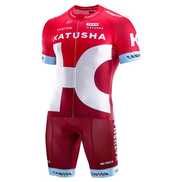 Katusha Red Team kit  This Kit is made with a combination of two high quality stretch fabrics that provide a good fit and comfort. His net on the sides and under the arms panel offers a high breathability and an optimal moisture management even in the practice of intense activity. #katushateam #retto