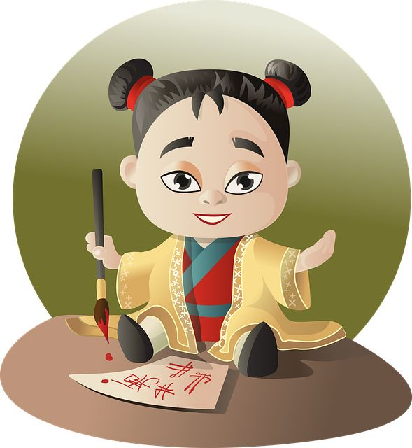 asian little girl cartoon vector character that you can donload and use for free in your - Cartoon Children Pictures