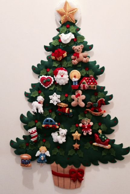 Bucilla Advent Christmas Tree - made by my sister
