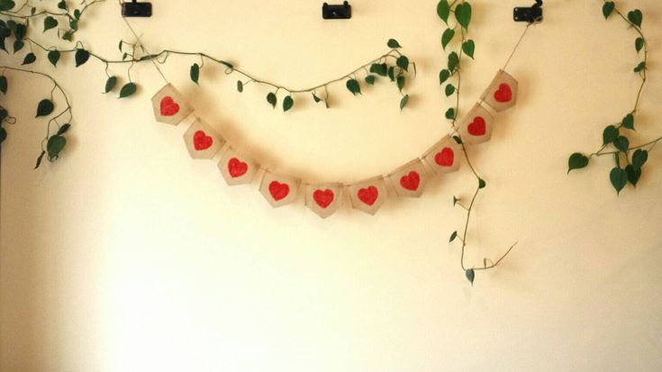 Burlap Valentine's Day Banner, Rustic Valentine's Day, Heart Banner, Valentine's Day Decorations, Burlap Hearts, Rustic Decor, Heart Decor by BootsAndDirtRoads on Etsy