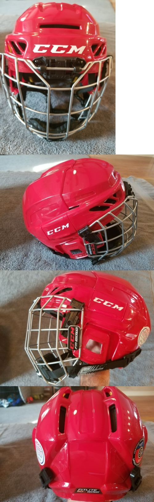 Helmets 20854: Ccm Fitlite 3Ds Youth Hockey Helmet W Cage (Red) -> BUY IT NOW ONLY: $35 on eBay!
