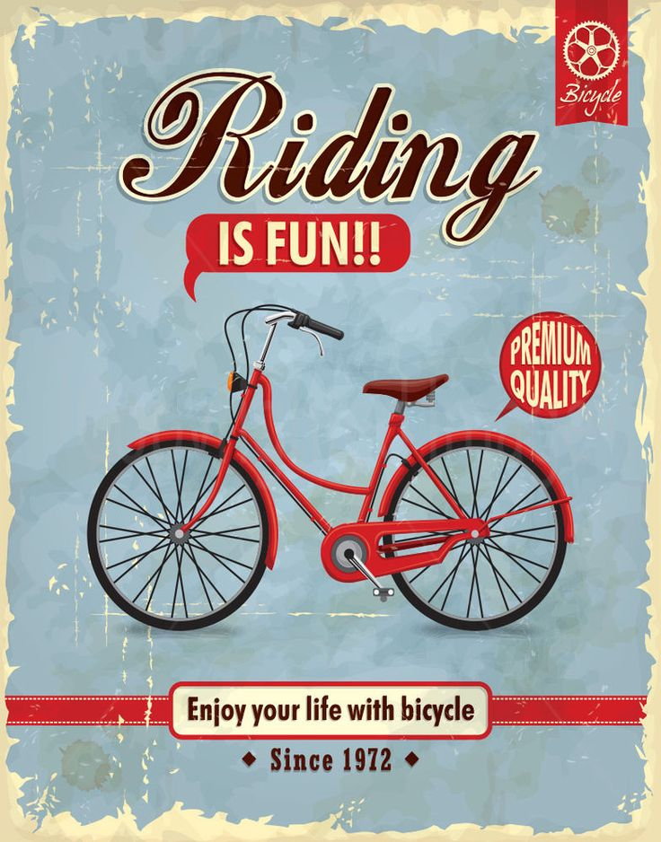 LIFE WITH BICYCLE LARGE METAL TIN SIGN POSTER VINTAGE STYLE #RetroShabbychicvintageretroAMERICANPUB