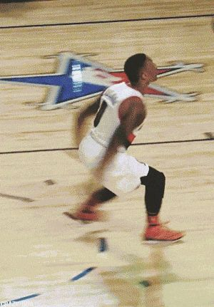 Damian Goes in gifs photography cool images sports gifs basketball dunks amazing dunks video clips damian lillard gifs nba slam dunk competition