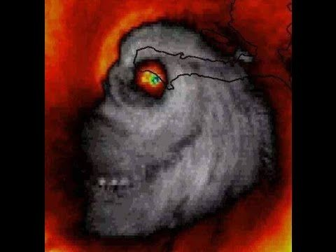 Hurricane Matthew continues barreling toward the East Coast of the United States, as hundreds of thousands begin evacuation procedures across the coast. Matthew is seen from a satellite image next to Haiti - a land known for Satanic Worship - as the hurricane forms an eerie skull shape. Will they take the hint??