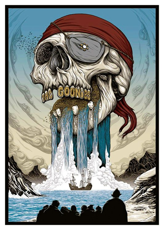 The Goonies Movie Poster, available at 45x32cm. This poster is printed on matt coated 350 gram paper.