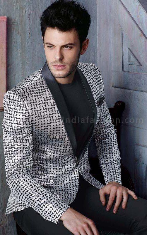 Mens designer blazer, black and white blazer, blazer suit, fashion suit, mens blazer suit, mens party suits www.statusindiafashion.com