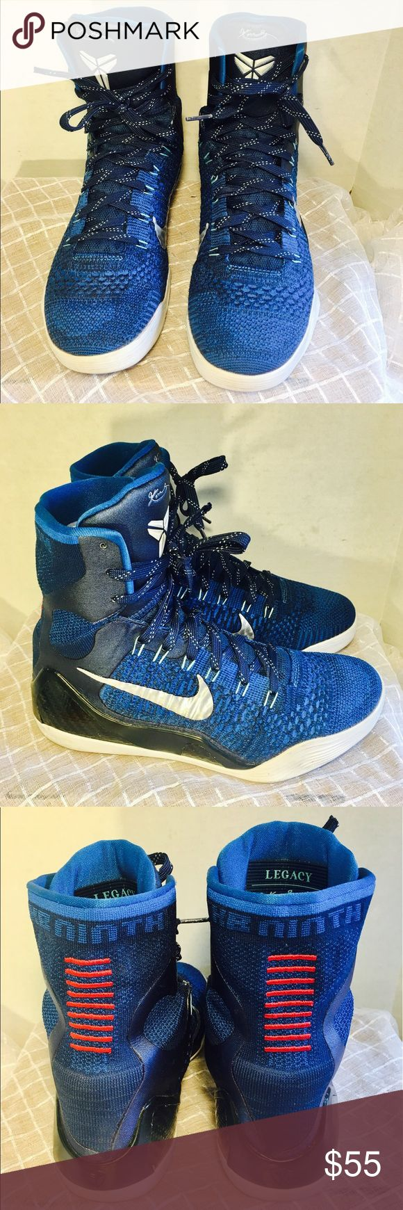 NIKE KOBE ELITE LEGACY 9 BRAVE BLUE DESIGNER--NIKE.                                                                                    STYLE----KOBE.                                                                               GOOD CONDITION.                                                                       SMOKE FREE HOME Nike Shoes Sneakers