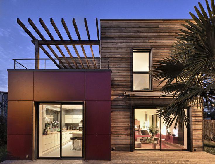 Surélévation en bois de maison d'habitation par Hélène Lamboley Architecte DPLG - Romans-sur-Isère / Drôme (France)