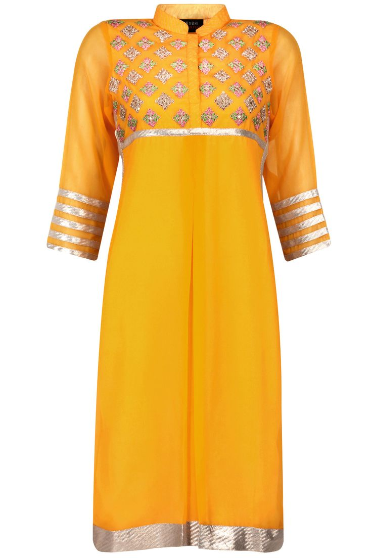 Mango yellow marodi work tunic available only at Pernia's Pop-Up Shop.