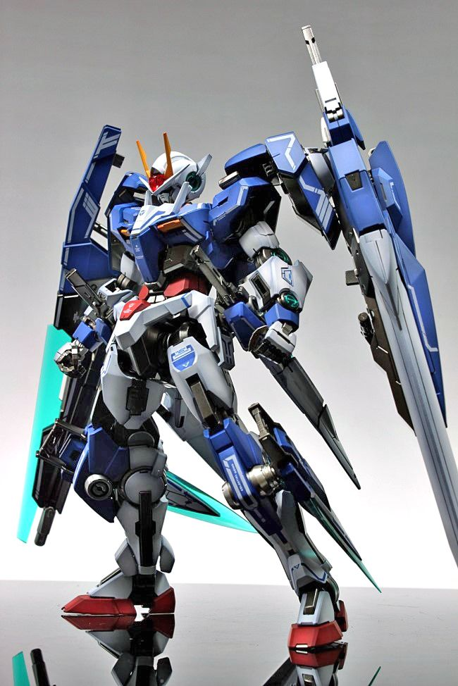 GUNDAM GUY: MG 1/100 00 Gundam Seven Sword/G - Painted Build