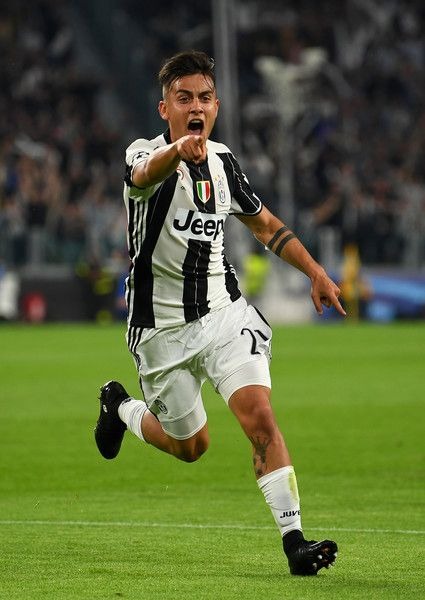 Paulo Dybala of Juventus celebrates after scoring his team's second goal during the UEFA Champions League Quarter Final first leg match between Juventus and FC Barcelona at Juventus Stadium on April 11, 2017 in Turin, Italy.